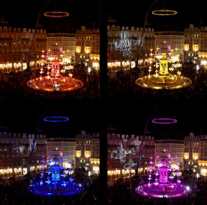 The Fish Fountain - Jacobins square - Festival of lights, Lyon, France 2008