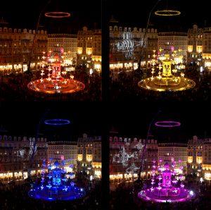 La Fontaine aux Poissons - Place des Jacobins - Fête des lumière, Lyon 2008