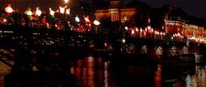 Installation sur Le pont des Arts - Paris – 1er avril 2004