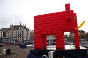 Elephant Rouge - Lausanne Lumières - Suisse 2017