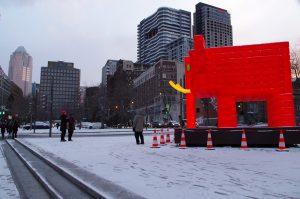 Eléphant Rouge - Illuminart - Montréal, Canada 2017