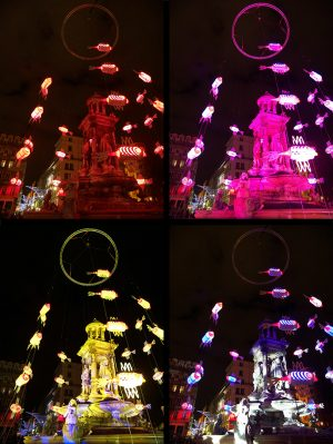 The Fish Fountain - Festival of Lights 2008, Lyon, France