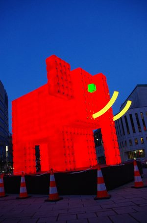 Elephant Rouge at Illuminart 2017 - Montreal, Canada