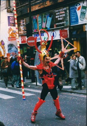 Goldorak - Rue de Rivoli, Paris 2001