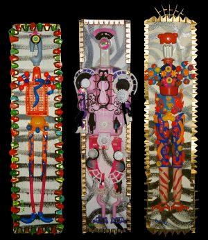Homme pas très gros, Personne assez fluette et Homme très maigre - Expo Feria de Pentecôte - Nîmes 1995