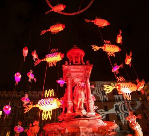 The Fish Fountain - Fête des Lumières 2008 - Lyon, France